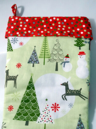 """Hand Made Christmas Stocking 14/"""" long 7/"""" wide at Top LINED FREE SHIPPING"""