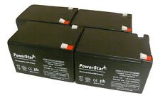 PowerStar 4 Pack - 12V 12Ah Ebike Electric Scooter Battery E-Bike Boreem Battery