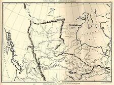 MAP ANTIQUE NORTH AMERICA CANADA HUDSONS BAY ART POSTER PRINT LV2129