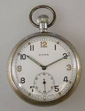 British Military WWII CYMA Pocket Watch Circa 1940