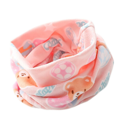 Kid Baby Boys Girls Soft Cotton Neck Cover Warmer Snood Scarves Cartoon Scarf KK