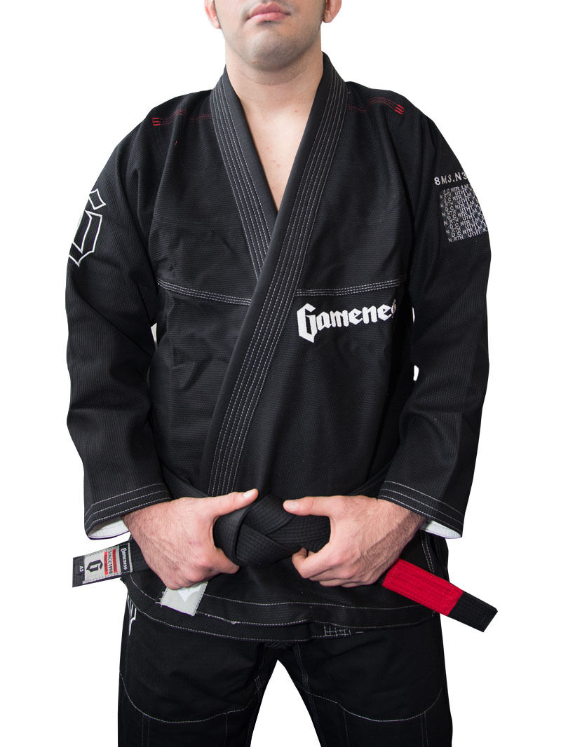 Neu  Gameness Gameness Gameness Gefieder Bjj Gi Schwarz Brasilianisches Jiu-Jitsu Kimono Uniform  | Up-to-date Styling  | Genialität  08dcfd