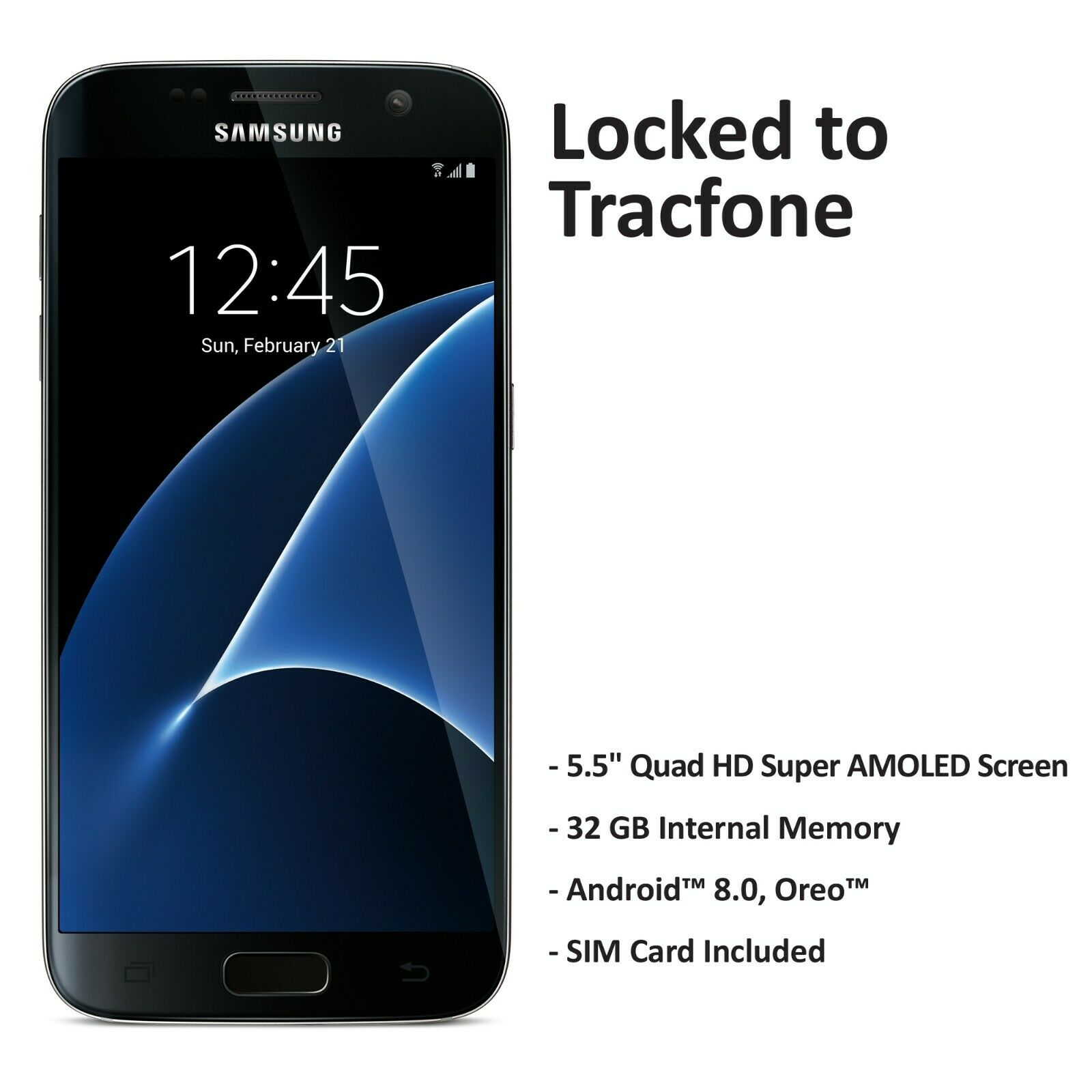 ($50 Gift Card Promotion) Tracfone Samsung Galaxy S7 4G LTE Prepaid Phone