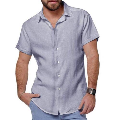 Summer Fashion Men/'s Casual Dress Slim Fit Shirt Short Sleeve Shirts Tops Tee