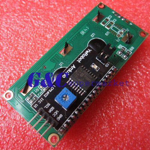 2pcs Blue Display IIC//I2C//TWI//SPI Serial Interface 1602 16X2 LCD Module M70