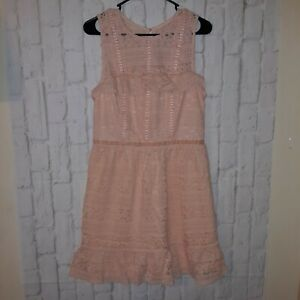 Disney-Princess-Kids-Peach-Pink-Lace-Lined-Dress-Sz-XL