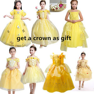 Girl-Belle-Princess-Fancy-Dress-Beauty-and-the-Beast-Halloween-Cosplay-Costume