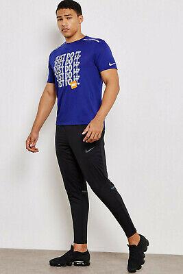 """Aggressivo Nike Shield Phenom 27 """" Corsa Allenamento Palestra Pantaloni Zip Polsini Avere Una Lunga Posizione Storica"""