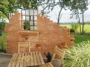 Ziegel Gartenruine Gartenmauer Sichtschutz Backsteine Rustikal inkl. Lieferung