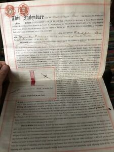 Antique 1905 Vellum Legal Document Lease Horfield Bristol Strathmore Rd Shadwell