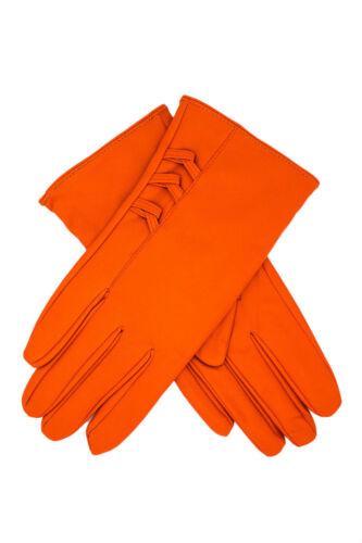 Ladies polyurethane Leather Wrist Gloves Driving Winter Warm Mittens Warm Fur UK