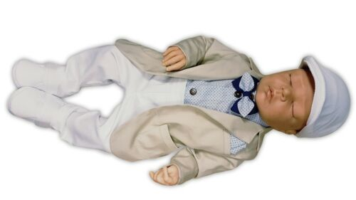 nº 0lg87 Enfants Costume Taufanzug festanzug babyanzug Costume taufgewand NEUF