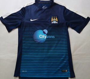 best loved 24092 4fc51 Details about OFFICIAL NIKE MANCHESTER CITY CITYZENS FOOTBALL SHIRT JERSEY  TOP ADULTS SIZE M