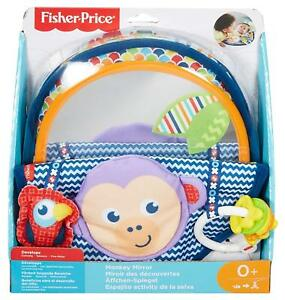 Fisher-Price Monkey Mirror New-born Tummy Time and Sit Sensory Toy with and