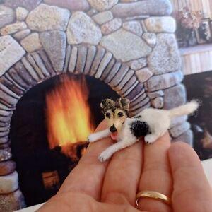 JACK-RUSSELL-TERRIER-Dollhouse-realistic-OOAK-miniature-1-12-handsculp-handmade