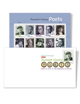 USPS New Twentieth-Century Poets Digital Color Postmark Keepsake