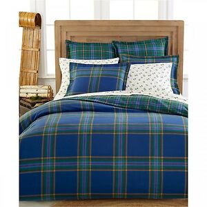 Martha Stewart Ivy League Flannel Comforter Cover King 636202783610 Ebay