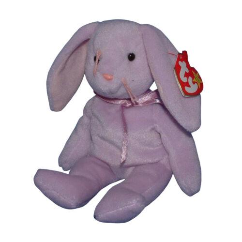 Ty Beanie Baby Floppity Easter MWMT Bunny Purple Rabbit 1996