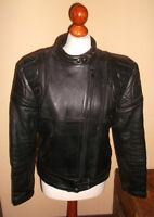 vintage 80`s oldschool Motorrad Lederjacke leather jacket punk moto Gr.40 M