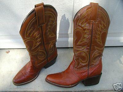 Ben Miller Marrón De Piel De Lagarto & Cuero botas botas botas De Vaquero 7 M  barato y de alta calidad