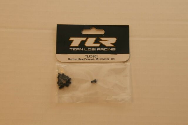 M3 x 6mm 10 Team Losi Racing Button Head Screws TLR5901