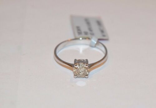 274114K WHITE GOLD SOLITAIRE DIAMOND ENGAGEMENT RING 0.51CTS 1.6GRAMS SZ 7