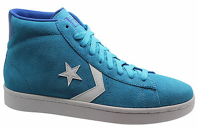 Converse All Star Pro Leather Suede Mid Blue Mens Trainers 136935C WH