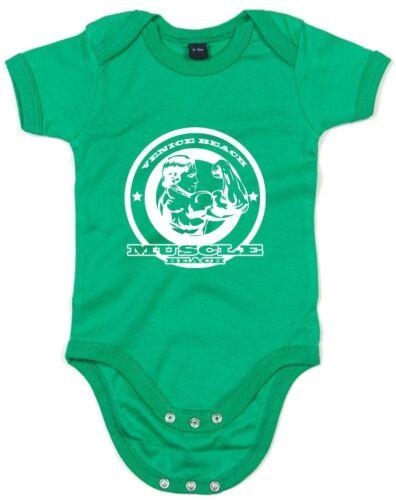 Imprimé plage musculaire croissance de bébé