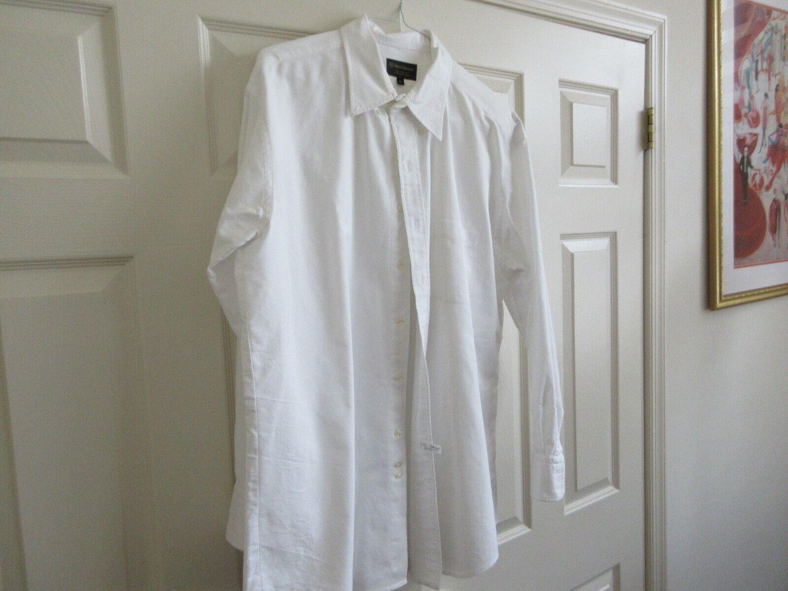 Allen Edmonds , Men's Long Sleeve Shirt , XL , White ,