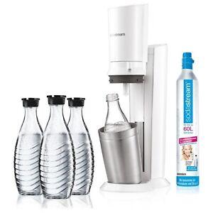 Détails sur SodaStream Crystal 2.0 wassersprudler Blanc incl. 3 glaskaraffen * NOUVEAU & NEUF dans sa boîte ** afficher le titre d'origine