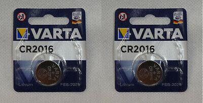 2x1er Blister Varta Cr2016 Batterien Knopfzellen Knopfzelle Mindesthaltbark 2028