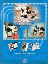 DISNEY TREASURES COLLECTABLE CARDS SELL SHEET