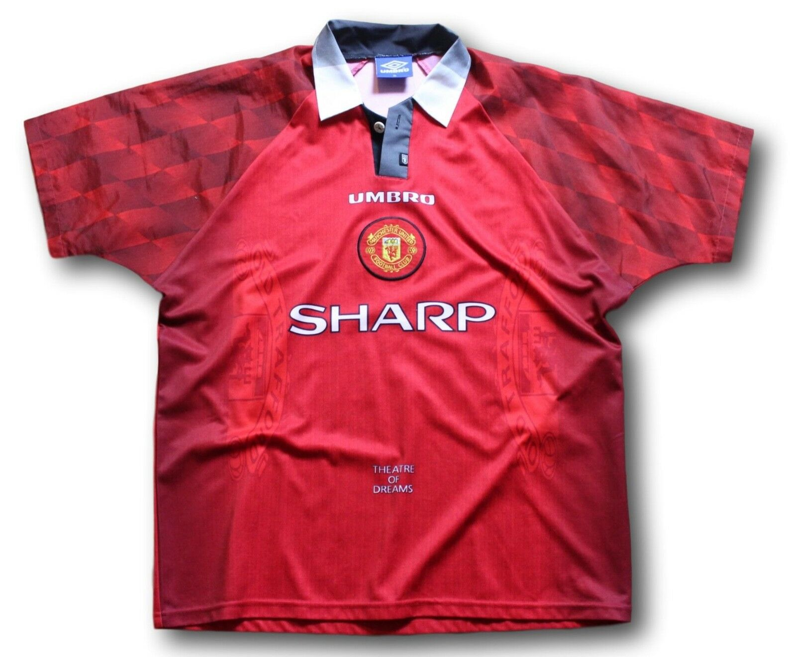 Vintage 1996-98 Manchester United Home Soccer Football Shirt Jersey Size XL