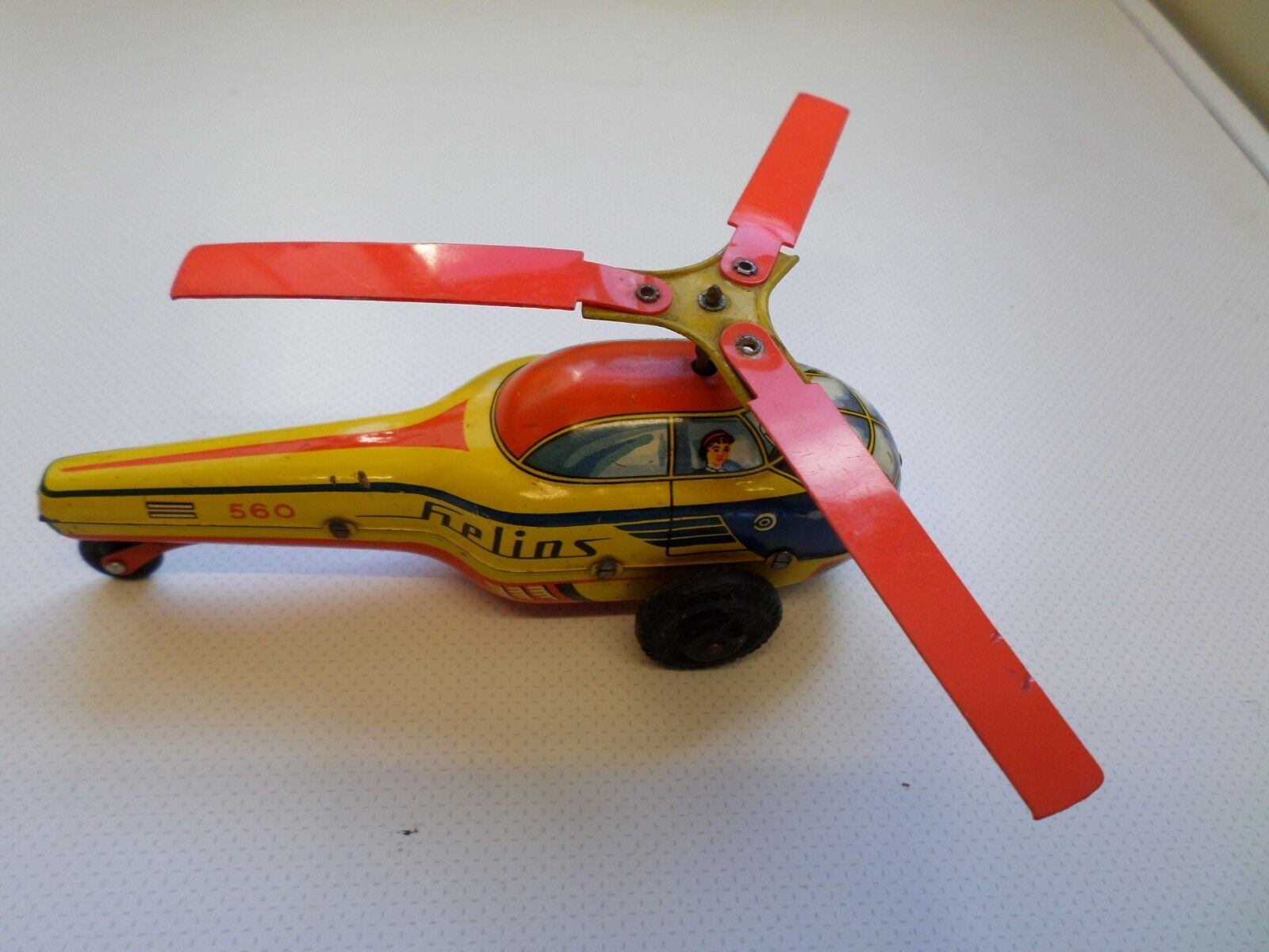 Blomer and Schuler West Germany tinplate Helins friction drive helicopter