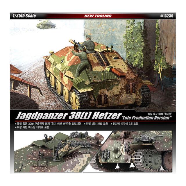 ACADEMY #13230 1/35 Plastic Model Kit Jagdpanzer 38T Hetzer Tank Late Product