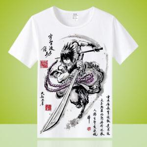 Anime-Uchiha-Sasuke-Unisex-Men-Cool-Otaku-Casual-T-shirt-Tops-Tee-Short-Sleeve