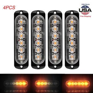 4pcs-6-LED-Strobe-Lights-Emergency-Flashing-Warning-Beacon-Amber-12V-24V-6500k