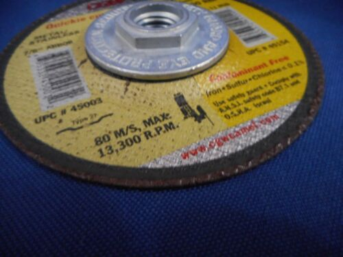 CGW 45154 4-1//2 x .045 x 5//8-11 T27 WA60-R-BF Quickie Grinding Wheel  45154