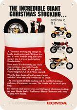 1972 HONDA TRAIL 90 MOTORCYCLE REPLICA METAL SIGN PICKUP HONDA 90 HITCHHIKER