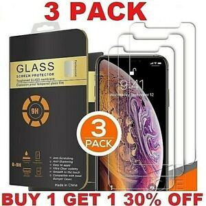 For-iPhone-11-Pro-Max-XR-X-XS-Max-8-7-6-Tempered-GLASS-Screen-Protector-3-PACK