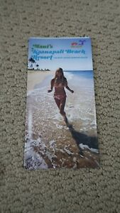Details About Vintage Travel Fold Out Brochure Kaanapali Beach Resort Maui Hawaii V3