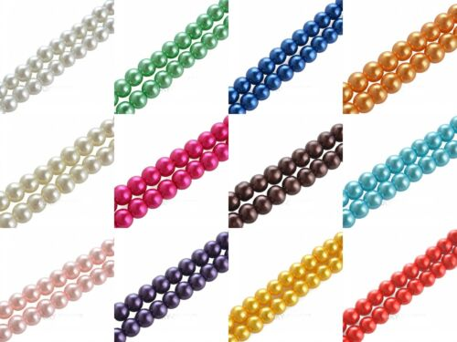 Wholesale Glass Pearl Round Spacer Loose Beads 4mm//6mm//8mm//10mm U Pick