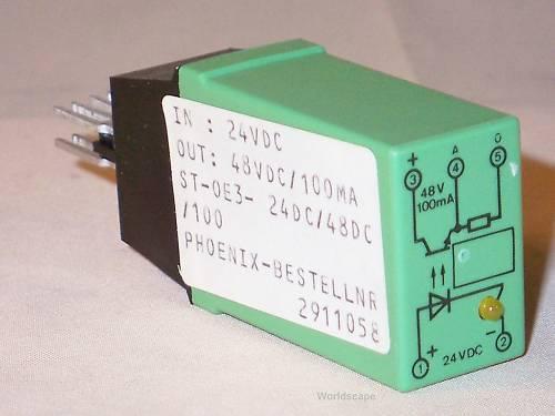 LOT OF 4 PHOENIX CONTACT TERMINAL OPTOCOUPLER DEK1.5 DEK-OE-24DC//48DC//100