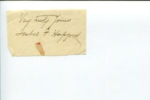 Isabel-Florence-Hapgood-Russian-Translator-Author-Signed-Autograph