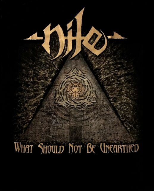 NILE cd cvr WHAT SHOULD NOT BE UNEARTHED Official 2017 TOUR SHIRT LRG new