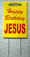 Happy Birthday Jesus Coroplast Sign With Stake 12x18 Christmas