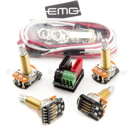 NEW EMG Solderless Wiring Conversion Kit for 1//2 pickups ACTIVE LONG-SHAFT SPLIT