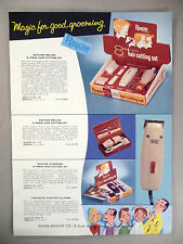 Raycine Hair Cutting Set CATALOG AD PAGE - 1957 ~ home barber kit, clippers