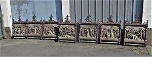 Antique Very Large Stations of the Cross 14 Pieces Church 3D Gothic Altar HTF