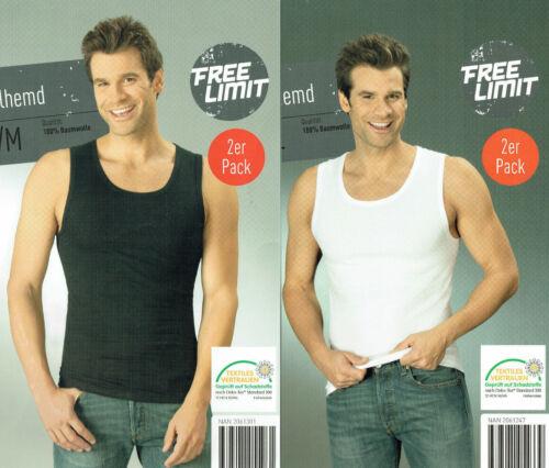 2er Set Uomo sotto trascinamento MAGLIETTA bodyshirt muscolare shirt dell/'ascella Camicia CANOTTIERA SOTTO CAMICIA